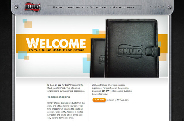 RUUD iPad Case Site