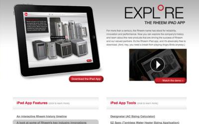 Rheem iPad App Site